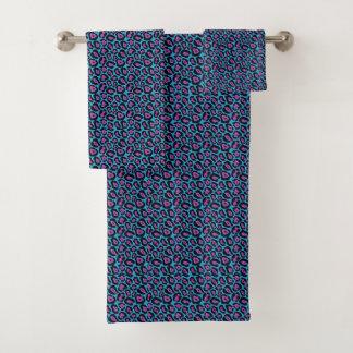 Grupo azul do *New*/cor-de-rosa chique de toalha