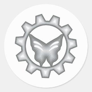 Grupo branco da etiqueta do logotipo do projeto de