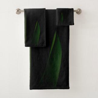 Grupo branco de toalha do banheiro da tulipa