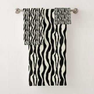 Grupo chique de toalha do impressão da zebra do