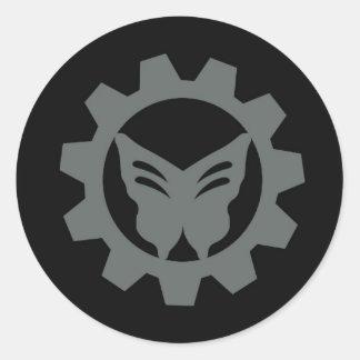 Grupo cinzento da etiqueta do logotipo do projeto
