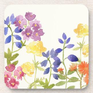 Grupo colorido floral selvagem da porta copos do