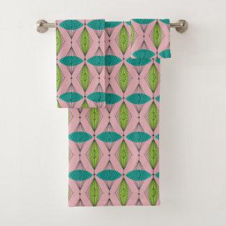 Grupo cor-de-rosa atômico de toalha de Ogee e de