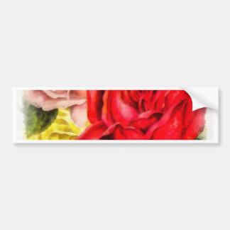 Grupo da aguarela dos rosas adesivo de para-choque