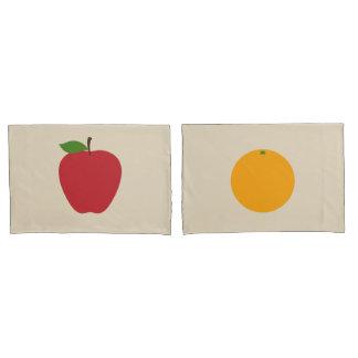 Grupo da caixa do travesseiro das maçãs & das