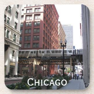 Grupo da porta copos da foto do viagem de Chicago