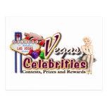 Grupo das celebridades de Vegas Cartão Postal