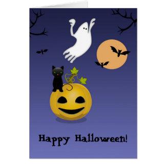 Grupo de assustador, cartão do Dia das Bruxas