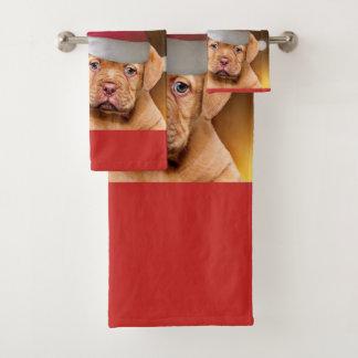 Grupo de de Bordaux do dogue do Natal de toalhas
