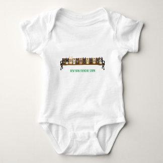 Grupo de New York Frenchie pelo amor do buldogue Body Para Bebê