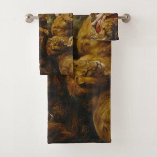 Grupo de toalha da arte do antro dos leões'