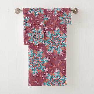 Grupo de toalha da mandala de Paisley