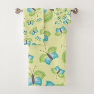 Grupo de toalha de banho, borboletas de