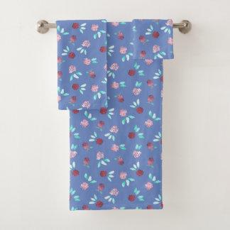 Grupo de toalha de banho das flores do trevo