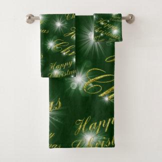 Conjunto De Toalhas Grupo de toalha de banho, feriado, Natal feliz
