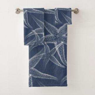 Grupo de toalha de praia dos azuis marinhos da