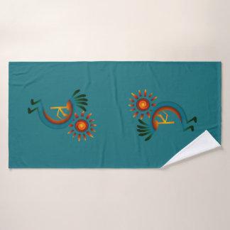 Grupo de toalha de turquesa   do sudoeste de