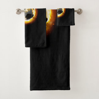 Grupo de toalha do banheiro da bola de fogo do