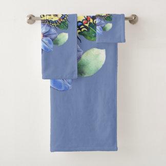 Grupo de toalha do banheiro da borboleta da