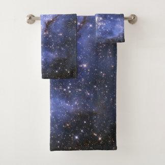 Grupo de toalha do banheiro da nebulosa de