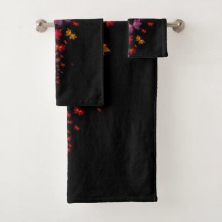 Grupo de toalha do banheiro das borboletas de