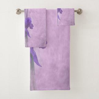 Grupo de toalha do banheiro de Reticulata da íris
