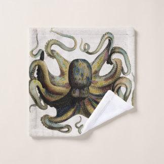 Grupo de toalha do banheiro do impressão do polvo