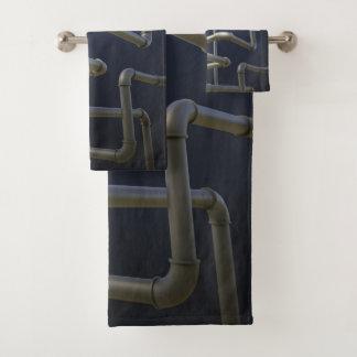 Grupo de toalha do banheiro do labirinto do