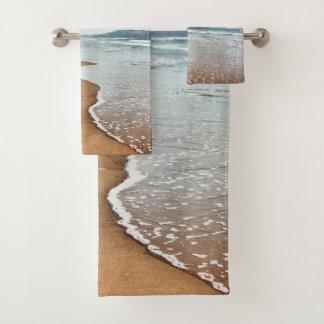 Grupo de toalha do banheiro do Sandy Beach