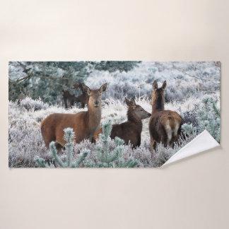 Grupo de toalha do banheiro do trio dos cervos