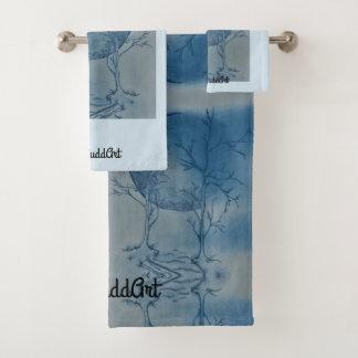 Grupo de toalha do banheiro, luz - azul