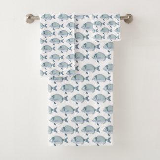 Grupo de toalha do teste padrão dos peixes