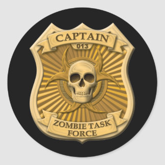 Grupo de trabalho do zombi - capitão Crachá Adesivos Em Formato Redondos