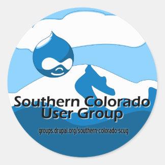 Grupo de utilizadores do sul de Colorado Adesivo Em Formato Redondo