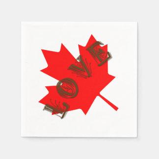 Grupo do amor do dia de Canadá de 50 guardanapo