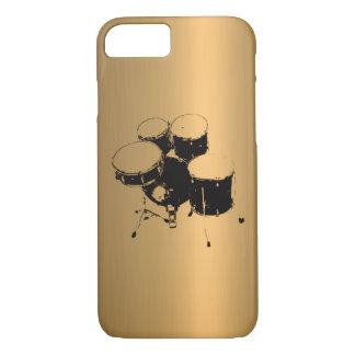 Grupo do efeito de cobre de bronze dos cilindros capa iPhone 7