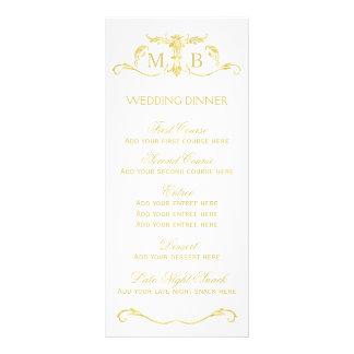 Grupo do modelo do menu do comensal de casamento 10.16 x 22.86cm panfleto