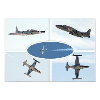 Grupo do plano da estrela de tiro P-80 5 Convites Personalizado