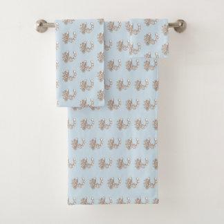 Grupo em ferradura rústico de toalha de banho