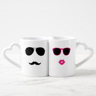 grupo engraçado da caneca de café dos amantes