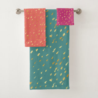 Grupo exótico de toalha das cores do splatter
