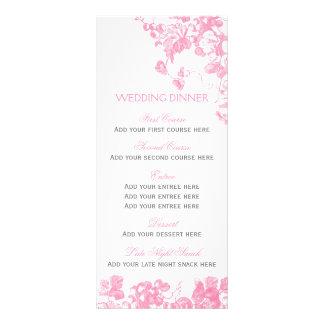 Grupo floral cinzento cor-de-rosa do modelo do 10.16 x 22.86cm panfleto