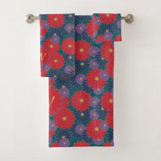 Grupo floral de toalha da queda Splashy