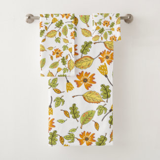 Grupo floral de toalha de banho do amarelo do