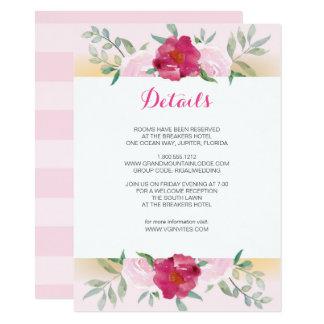 Grupo floral do convite de casamento do rosa do