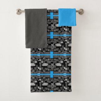 Grupo geométrico de toalha de banho do abstrato
