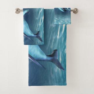 Grupo ideal de toalha do banheiro do golfinho