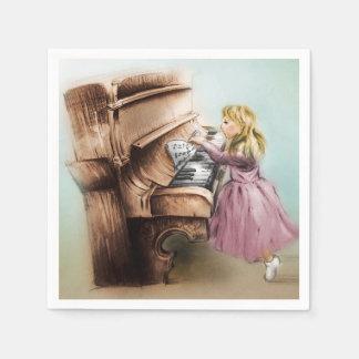 Grupo ilustrado colorido de guardanapo - menina do