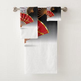 Grupo japonês de toalha do banheiro dos fãs da