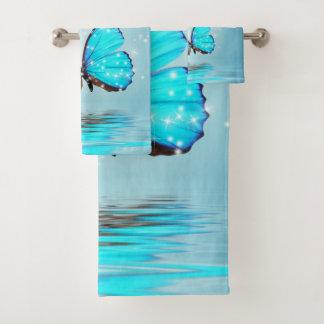 Grupo mágico de toalha do banheiro das borboletas